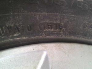 год выпуска шины