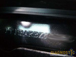 Lexus NX VIN под сиденьем